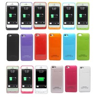2200mAh(TECH007) External Battery Backup Charger Case Pack Power Bank for Iphone 5 ,5s. (White)