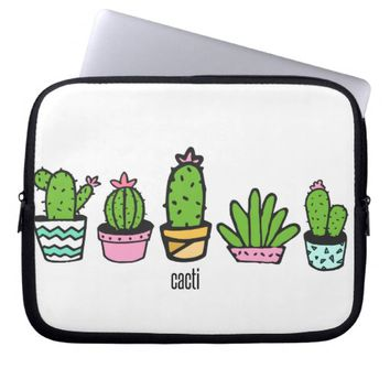 cacti grouping computer sleeve