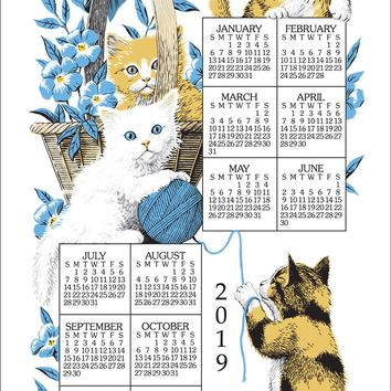 Calendar Towel 2019 - Curious Kittens
