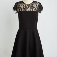 Mid-length Cap Sleeves A-line Fifth Symphony Sweetness Dress by BB Dakota from ModCloth