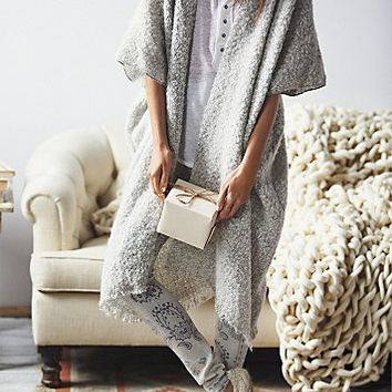 Free People Womens Weekend Boucle Kimono
