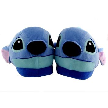 2017 New Stitch Winter Warm Halloween Cosplay Plush Slippers  Home Furnishing Couple Cartoon Unisex Slippers
