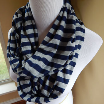 Monogrammed Infinity Scarf - Stripes - More COLORS!