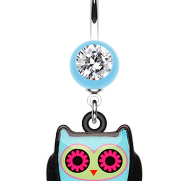 Cute Owl Belly Button Ring
