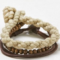 AEO Men's Beaded Bracelet Set (Brown)