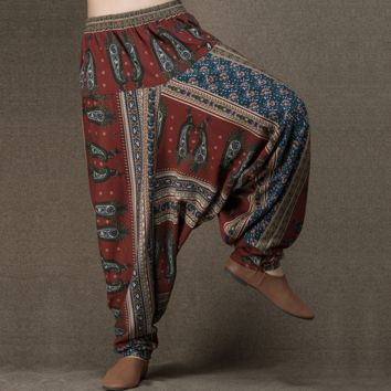 casual loose women harem pants cotton wide leg pan spring and fall