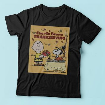 The Peanut Gang Charlie Brown Thanksgiving Men'S T Shirt