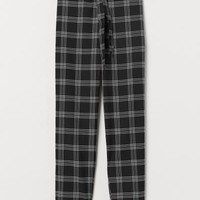 Pull-on Slacks - Black/checked - Ladies | H&M US