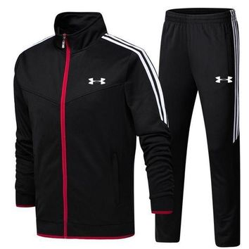 ESB2N Under Armour pantsuit letter printing fashion suit pullover Black Two piece Tagre-