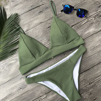 Swimsuit New Arrival Hot Summer Sexy Beach Ladies Swimwear Knit Bikini