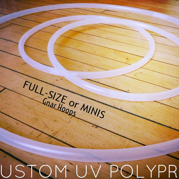 High-Quality UV Polypro Twin Mini Hula Hoops- Collapsible/ Standard Clear Polypro Hula Hoops - Convertible