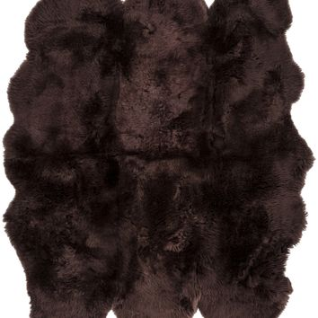 Surya Sheepskin SHS9603 Brown Animal Area Rug
