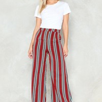 Stripe By Your Side Wide-Leg Pants