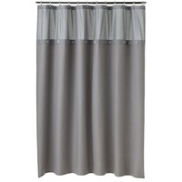Home Classics Spa Waffle Fabric Shower Curtain (Grey)