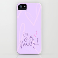 Stay Beautiful iPhone & iPod Case by LookHUMAN