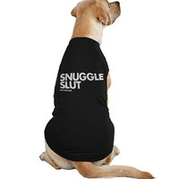 """Snuggle Slut"" Dog Tee by Dpcted Apparel (Black)"