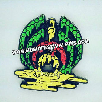 Bassnectar Pin - Rasta Bassnectar Hat Pins - Rasta Colors -(website not on the pin)