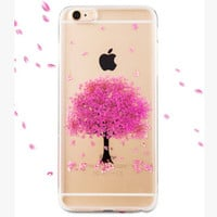 Baby Breath Real Flower Resin Iphone Cases