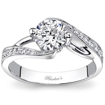 Barkev's Bypass Swirl Diamond Engagement Ring