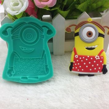 Luyou Classic DIY Despicable Me Minions Fondant Cake Molds Soap Chocolate Mould For The Kitchen Baking Tools Silicone Mold FM719