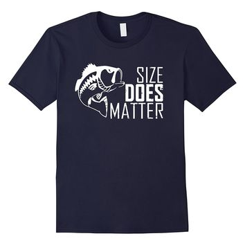 Awesome SIZE DOES MATTER funny fishing t-shirt (gift fisher)