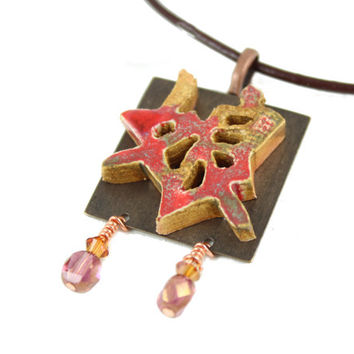 Handmade Japanese Symbol for Daughter Necklace - Zen Jewelry - Daughter Jewelry