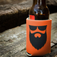 NSL Logo Orange Beer Koozie