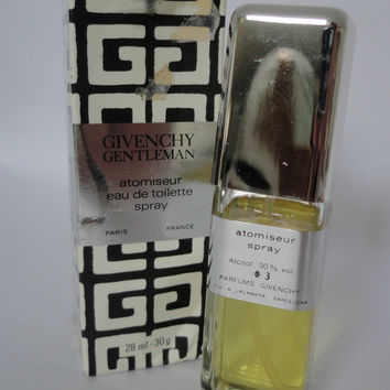 Vintage Givenchy Gentlemen, eau de toilette spray, atomiseur, 28ml, 30g