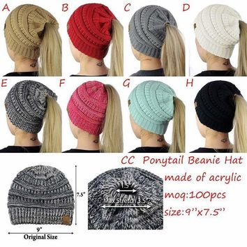 2018 New! Women's Warm Winter Hat w/open end for ponytail