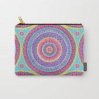 Summer Burst Mandala  Carry-All Pouch by Sarah Oelerich