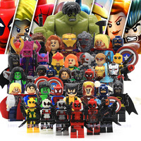 Marvel Super Heroes Action Figures Minifigures Building Blocks Compatible With Legoes Civil War X-Men Hulk Deadpool Iron Man