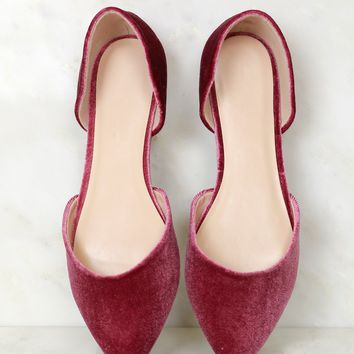 Slither On Velvet Flat Mauve