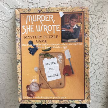 MURDER SHE WROTE Recipe For Murder Vintage Mystery Puzzle Game