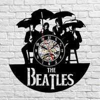 The Beatles Vinyl Record Clock 4