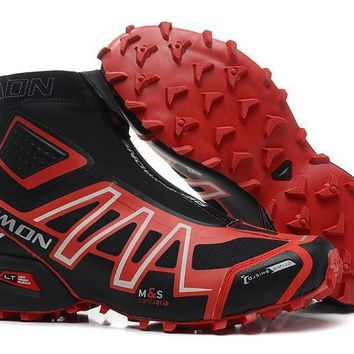 Salomon Snowcross CS Mens Black red Water Resistant Running Sports Shoes Pumps