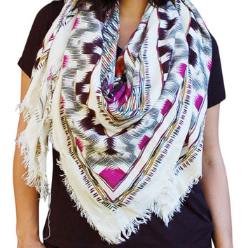 Tribal Blanket Scarves