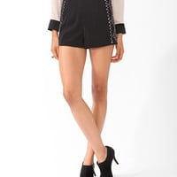 Metallic Beaded Shorts