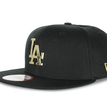 Los Angeles Dodgers New Era Snapback Black Gold