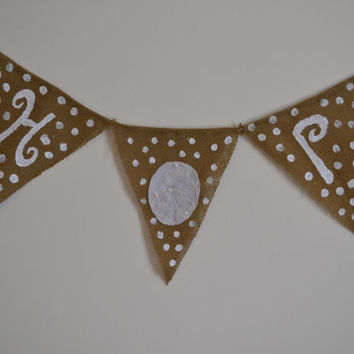 HOP Easter banner white letters with white egg easter decor easter mantle easter banner shabby easter banner