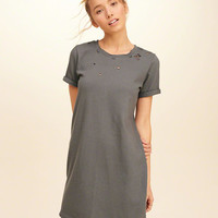 Girls Distressed T-Shirt Dress | Girls Dresses & Rompers | HollisterCo.com