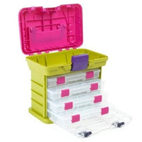 Crafting Organizer Supplies Storage Portable Creative  Rack System Pro-Latch Utility Organizers