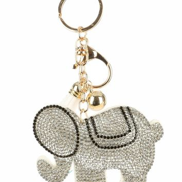 Hindu Elephant Stuffed Pillow Key Chain