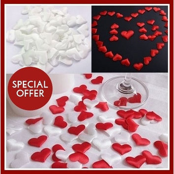 50pcs/bag Wedding Decoration Throwing Heart Petals Wedding Table Confetti Decoration Valentines Day Decoration Party Supply (NEW) [7980701703]