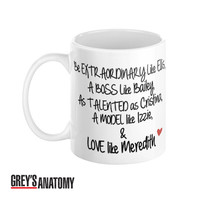 Grey's Anatomy Coffee Mug Typography Quote From Meredith Grey Ellis Cristina Yang You're My Person Love - Case15