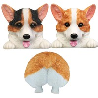 Corgi Wall Decoration (w/o Hook) / Towel Hanger (with Hook)