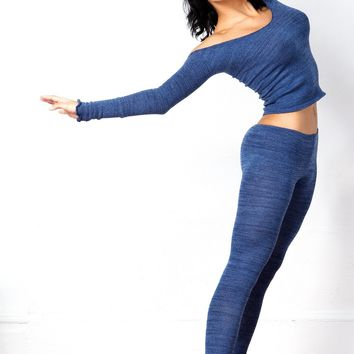 Sexy Off Shoulder Sweater / Dance Tights / Dancewear Set