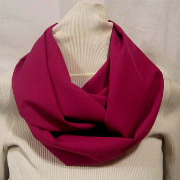 Womens Rose colored Handmade  Infinity scarf, circle scarf, cowl scarf