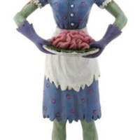 Zombie House Wife Serving Brains Statue Walking Dead Figure