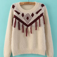 Fringed Crochet Sweater