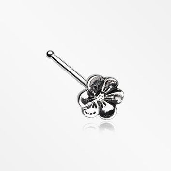 Anemone Flower Nose Stud Ring